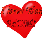 Heart I love you mom mothers day