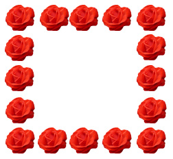 Border of red roses for mothers picture