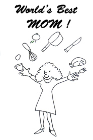 mothers day clip art worlds best mom sketch