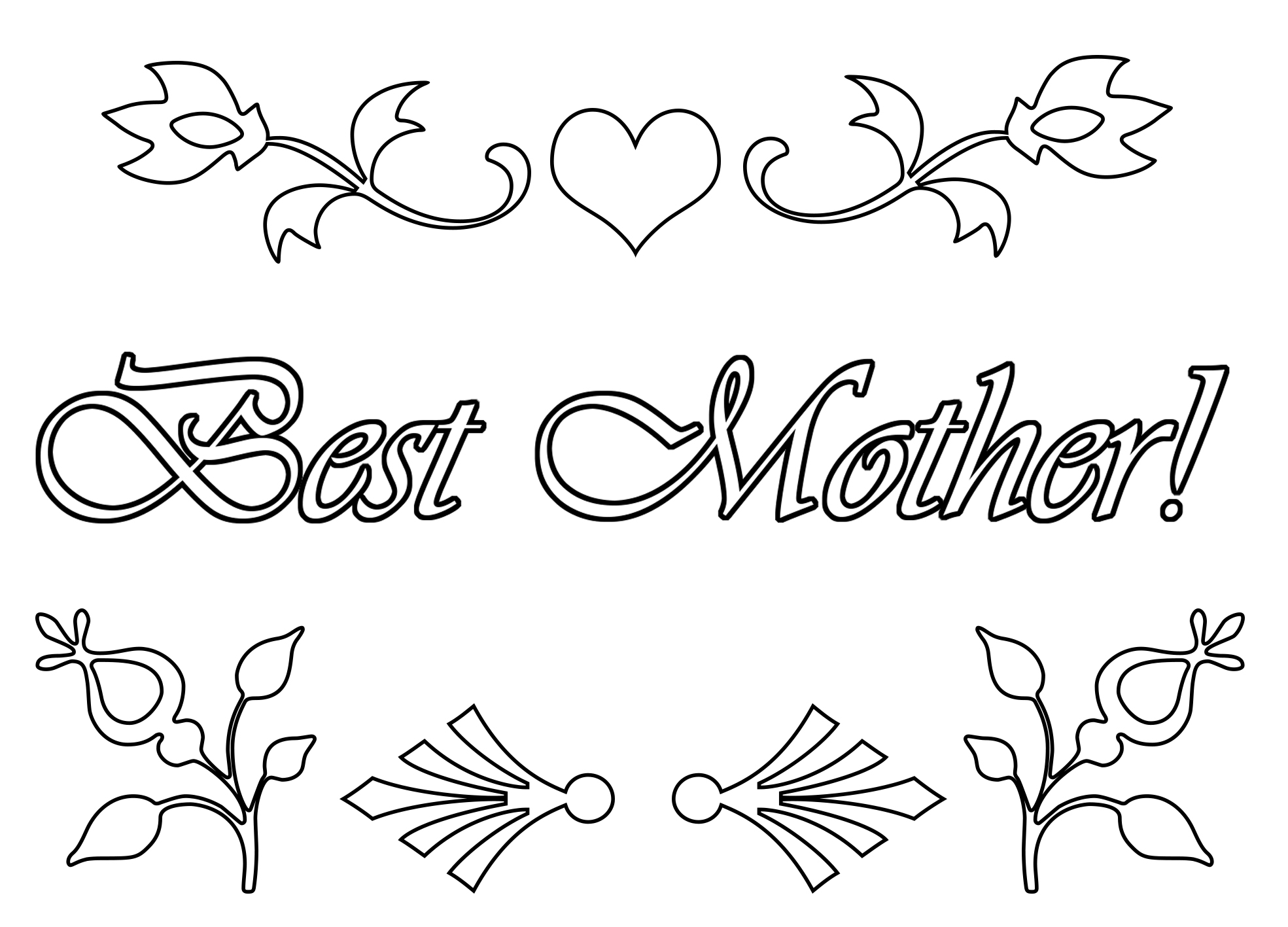 best mother coloring page