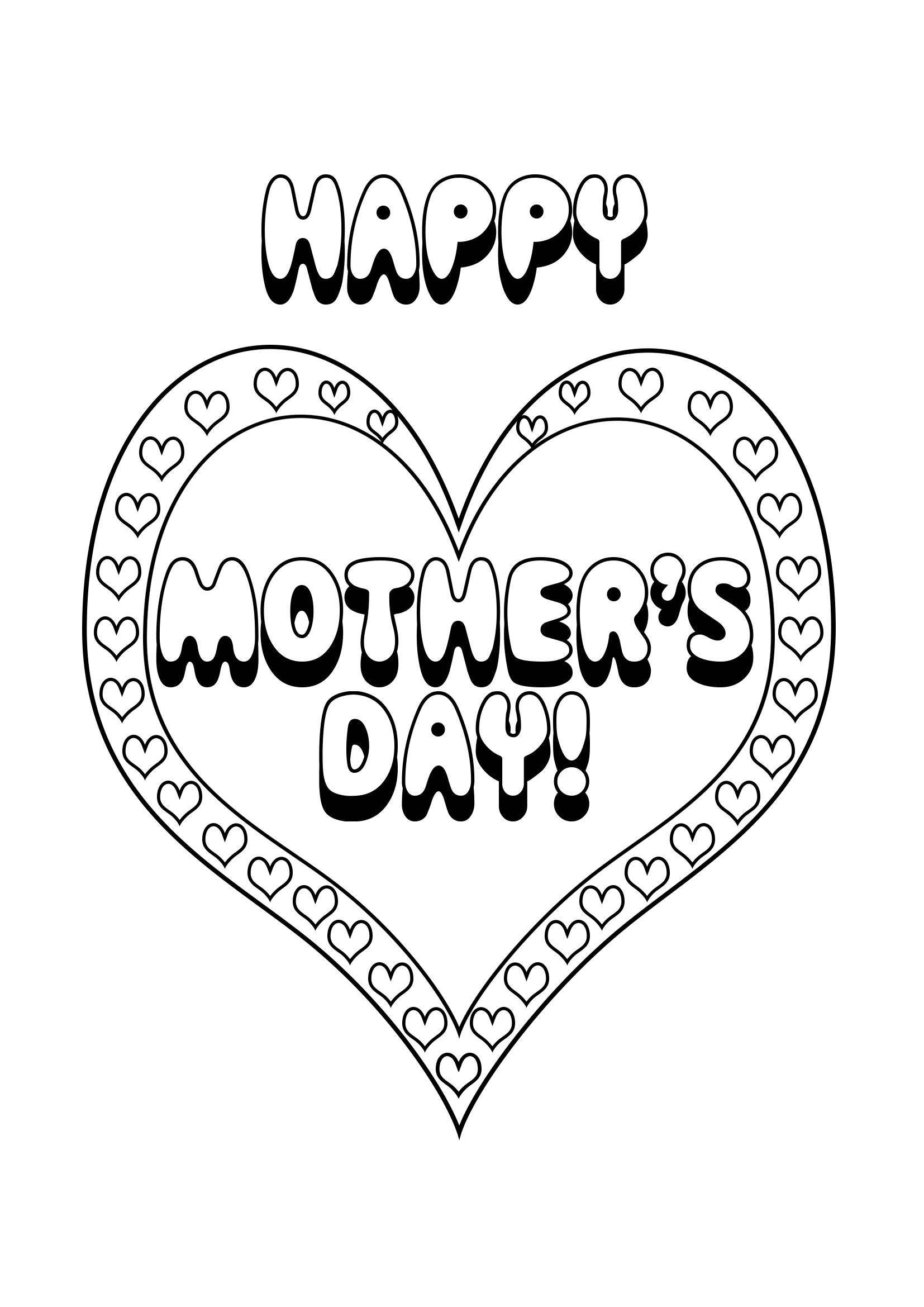 happy mothers day hearts