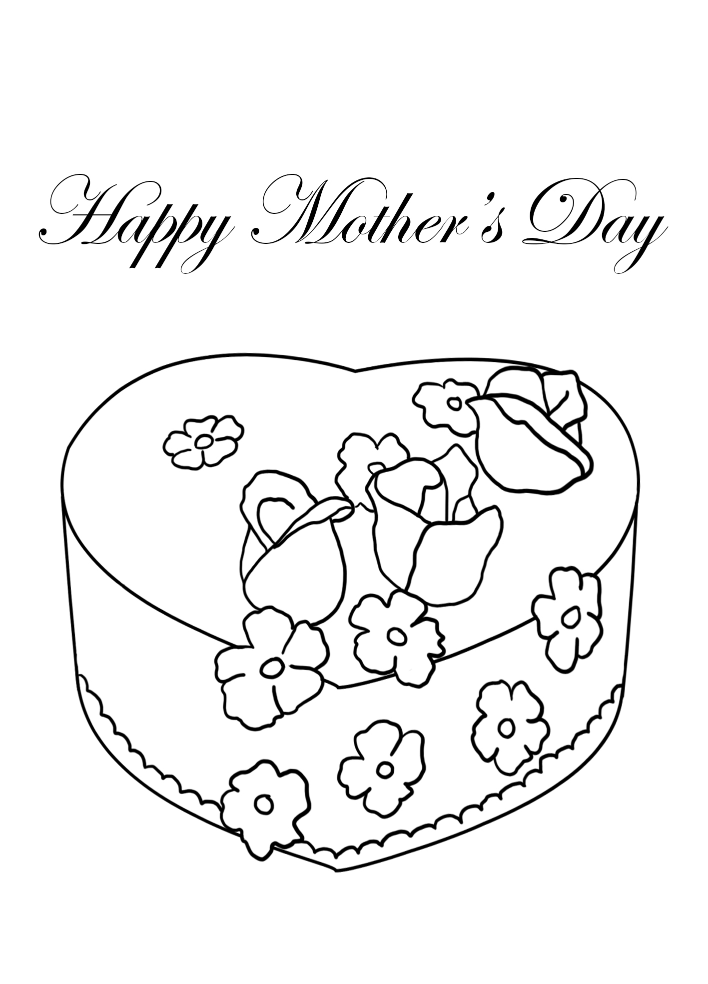 Cake coloring for Mother's day