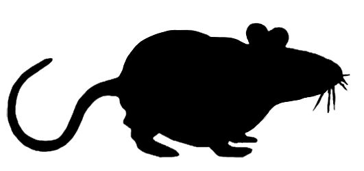 mouse silhouette sidewasy