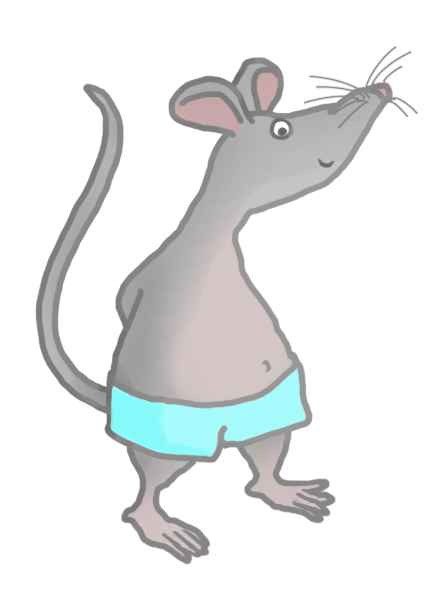 cute mouse with blue shorts