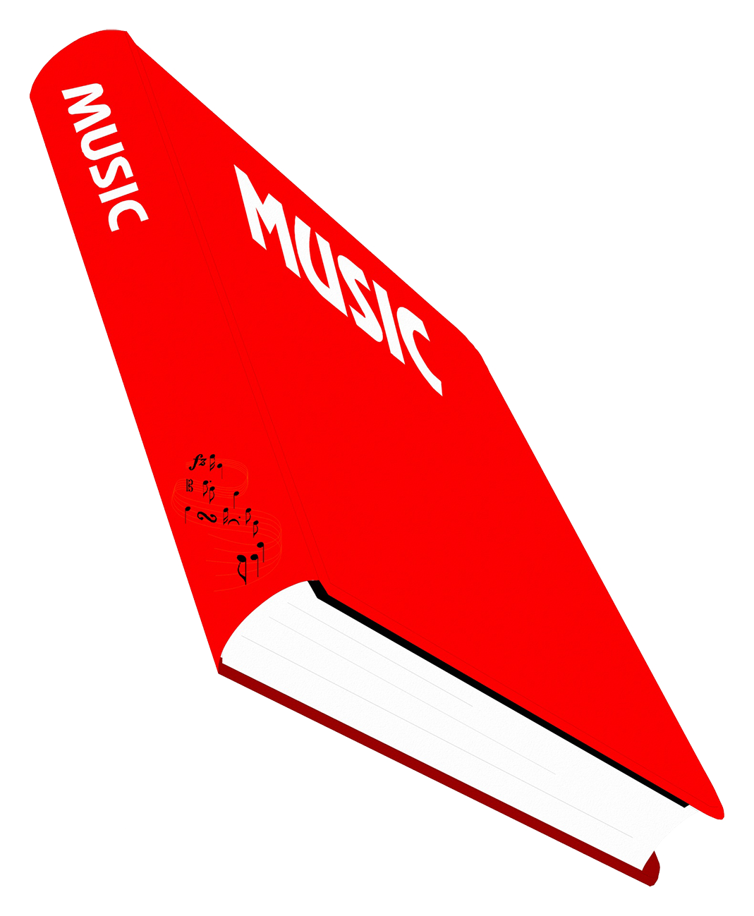 music book clipart red
