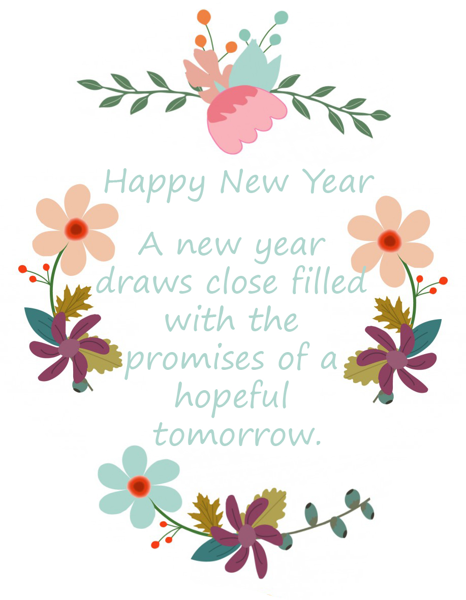 Flower greeting for New Year
