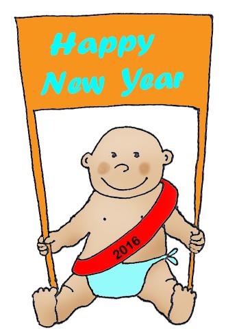 New Year 2016 baby