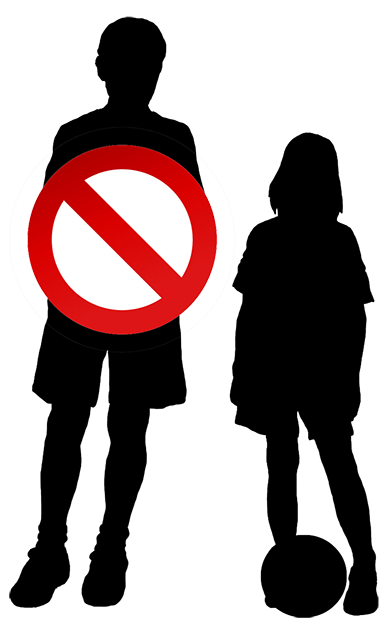 no acces for boys sign