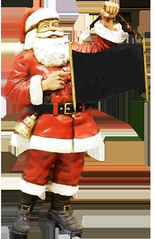 Noel with blackboard