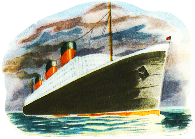 Ocean liner cut-out vintage