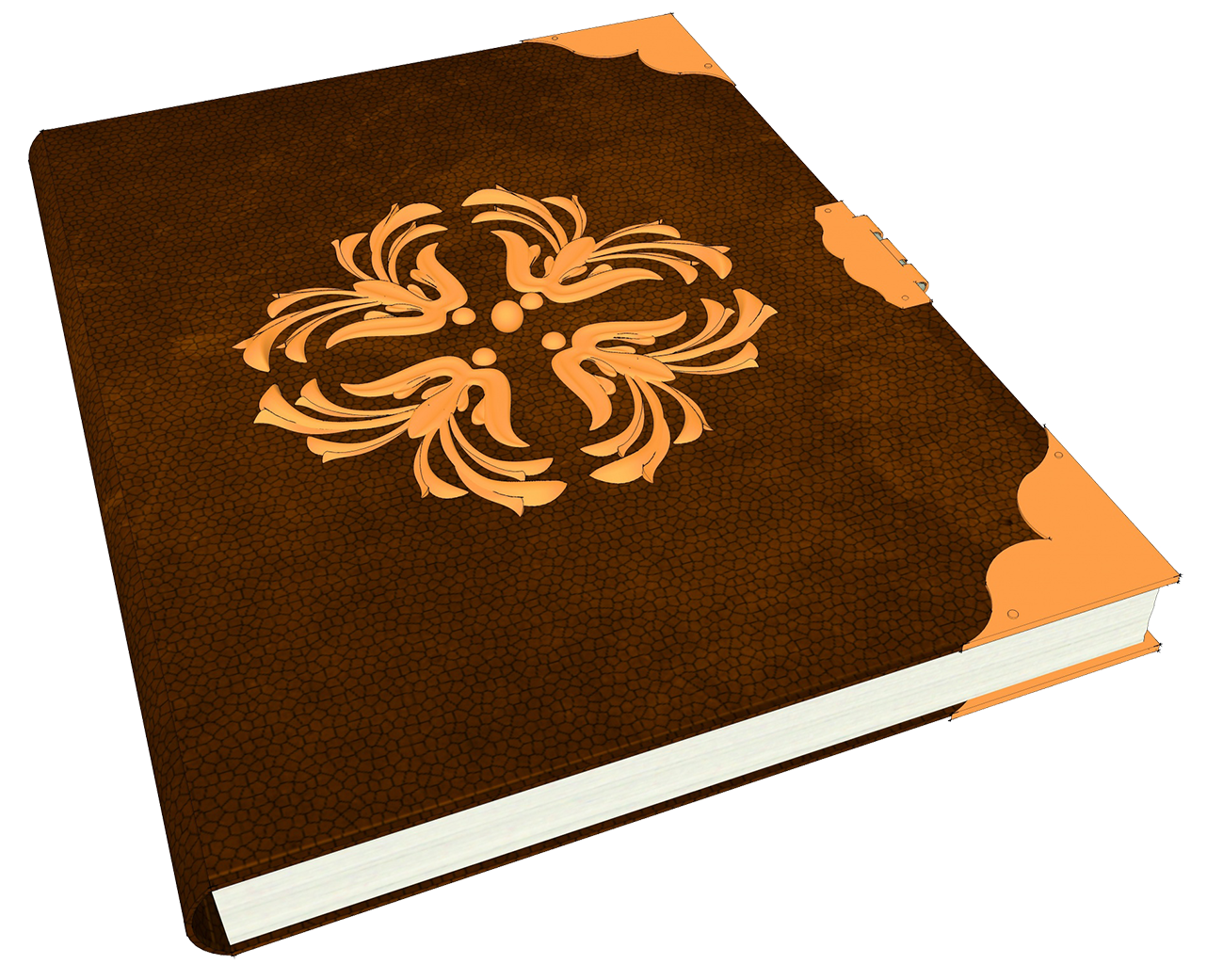 clipart of older book beatifully decorated