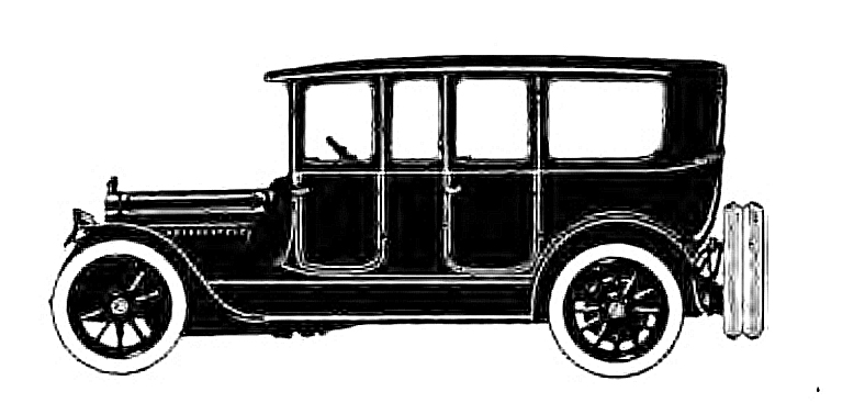 drawing of old car