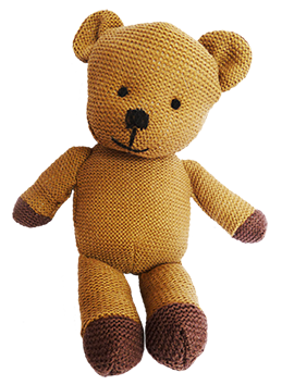 Vintage knitted Teddy bear clipart
