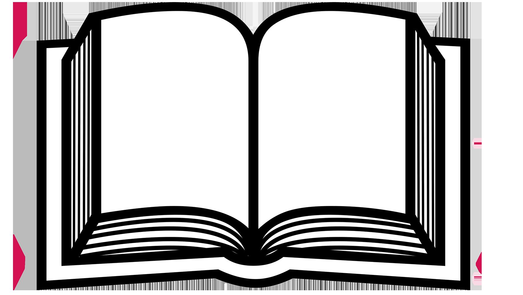silhouette of open book