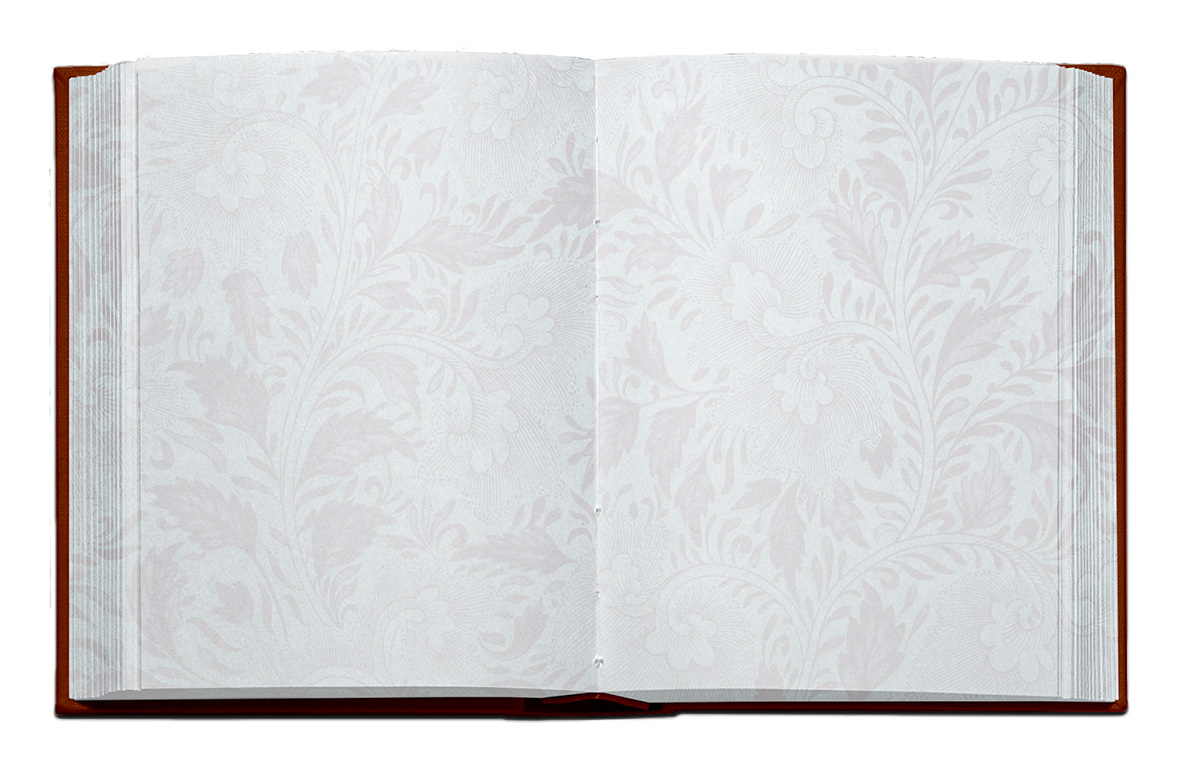 open book with ornamented pages