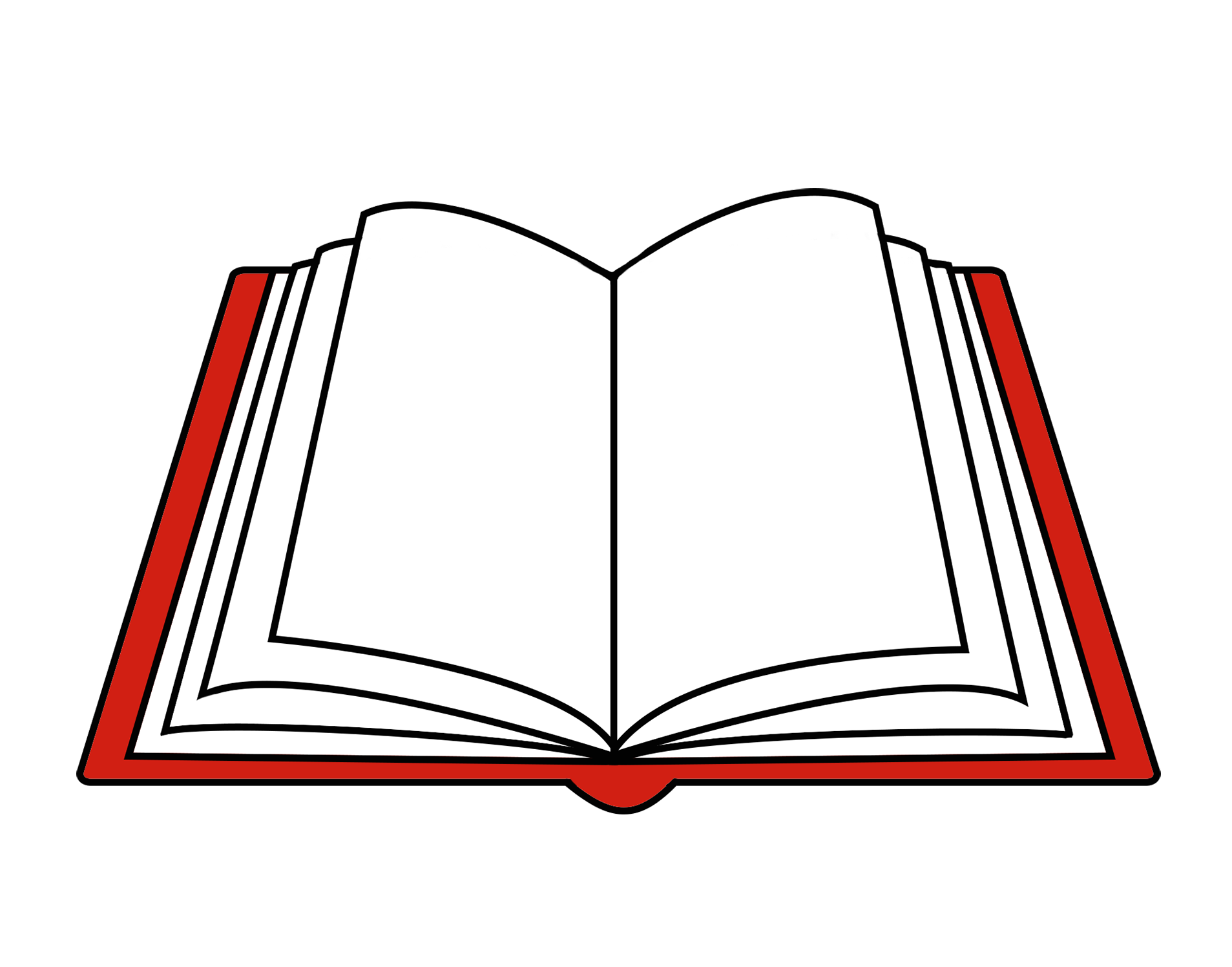 open red book clipart