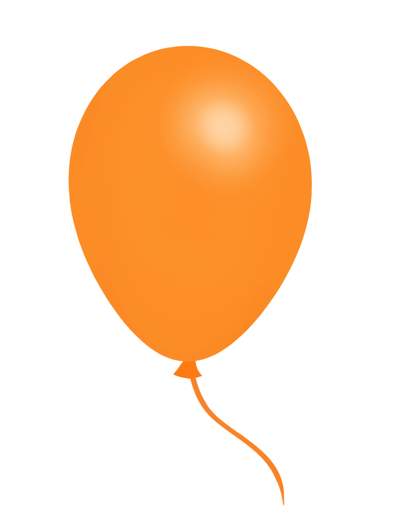 orange balloon clipart