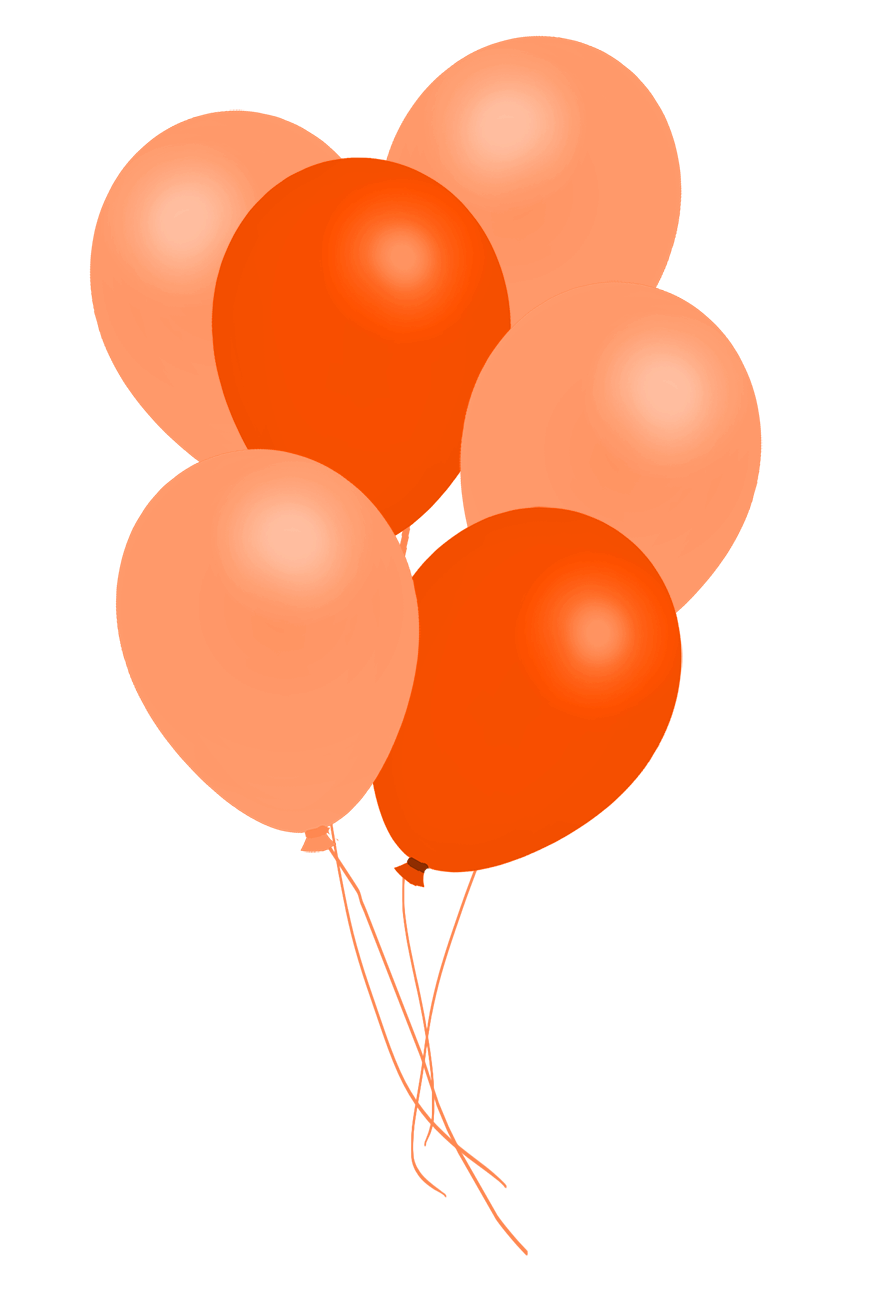 orange balloons clipart