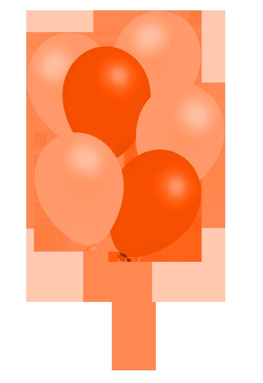 orange balloons clipart