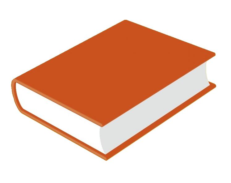 orange book clipart png