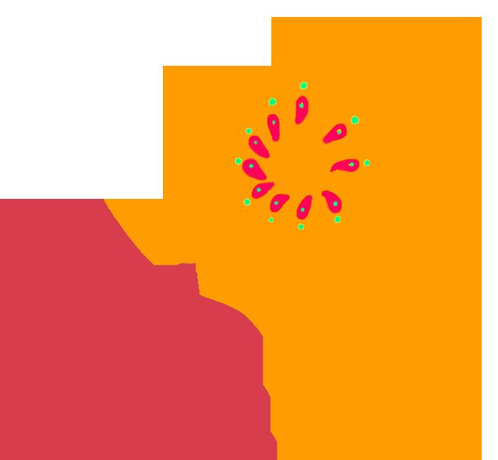 scrapbooking flower orange