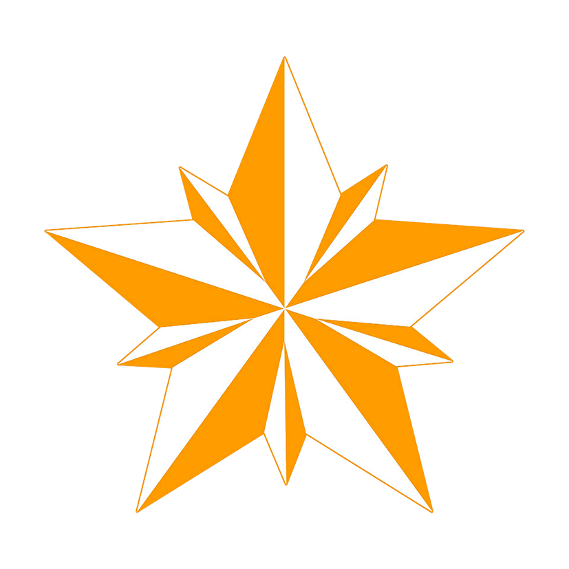 star clipart orange faceted star