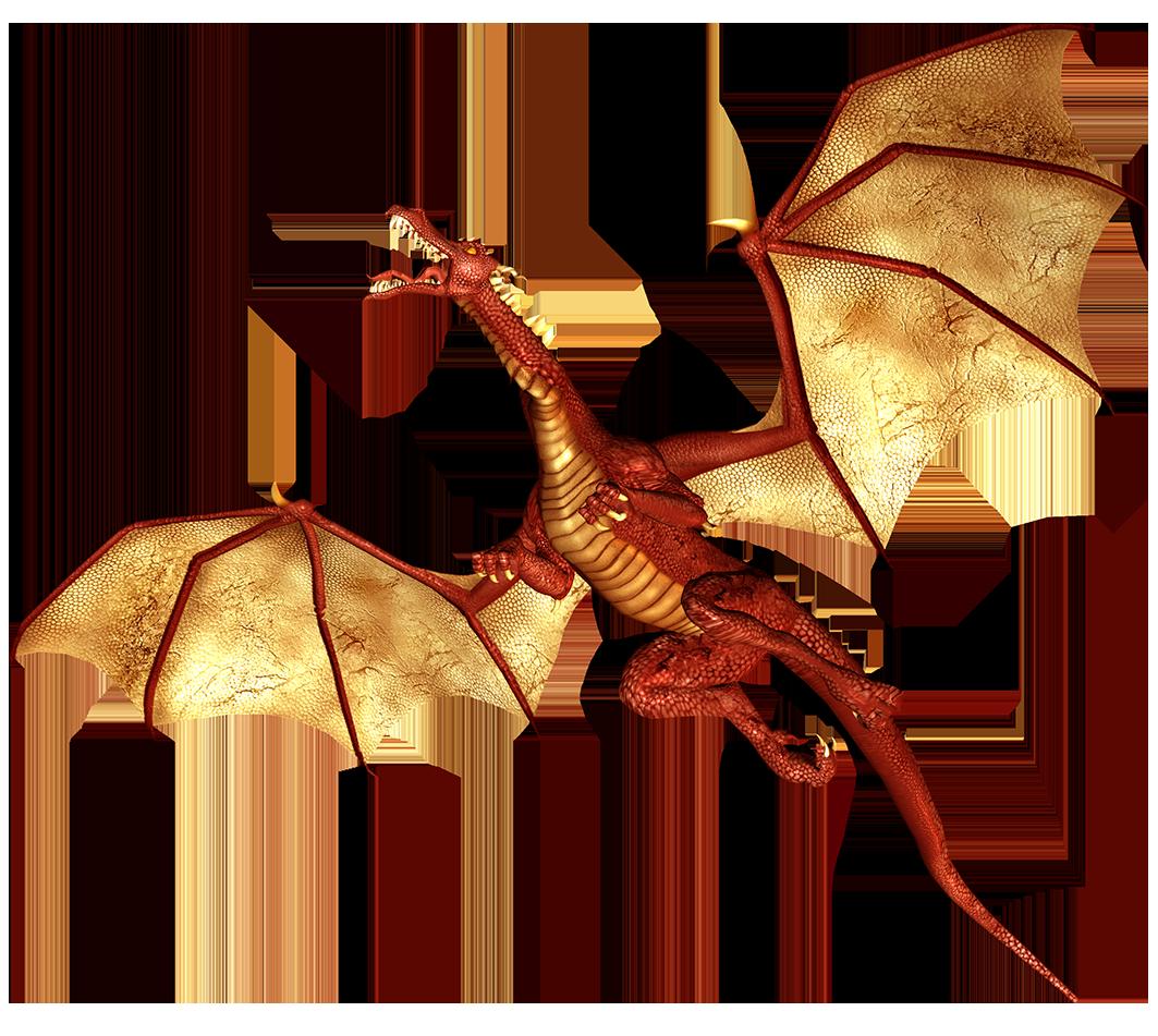 orange flying dragon