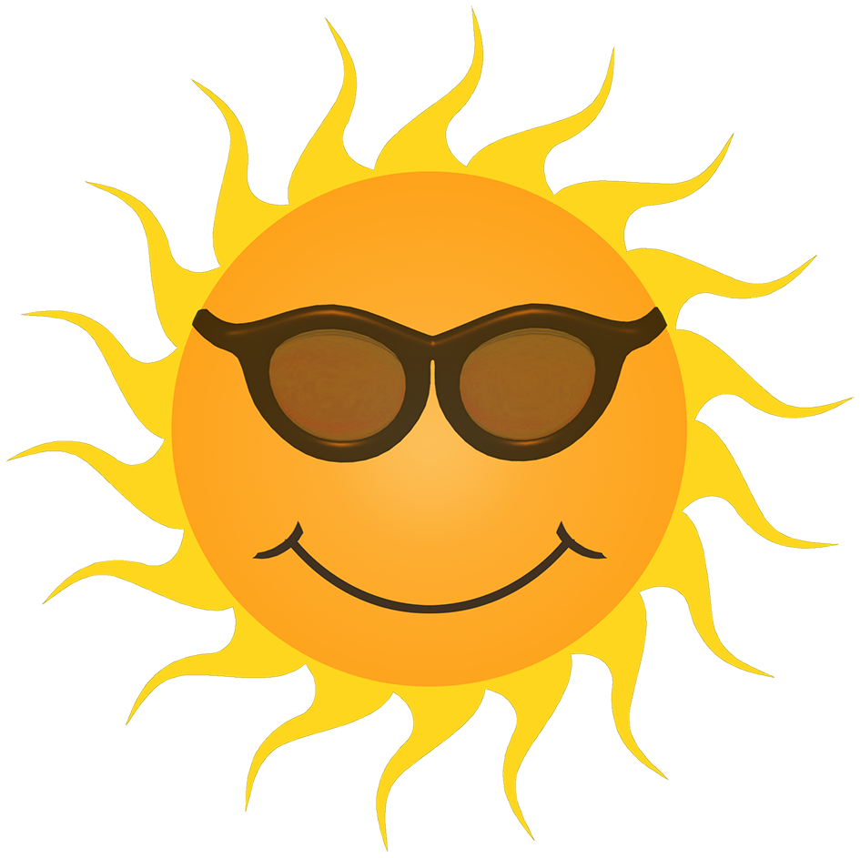 orange sun clipart smiling sunglasses