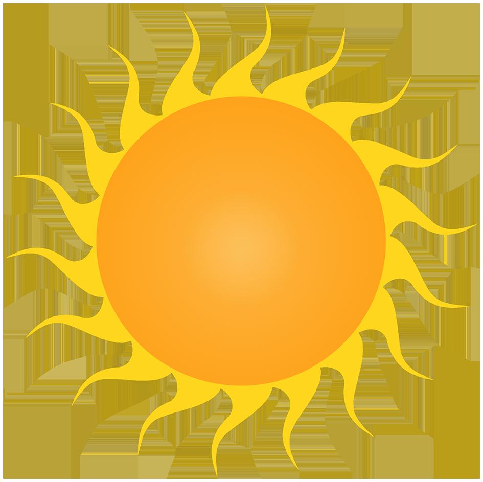 orange sun with rays