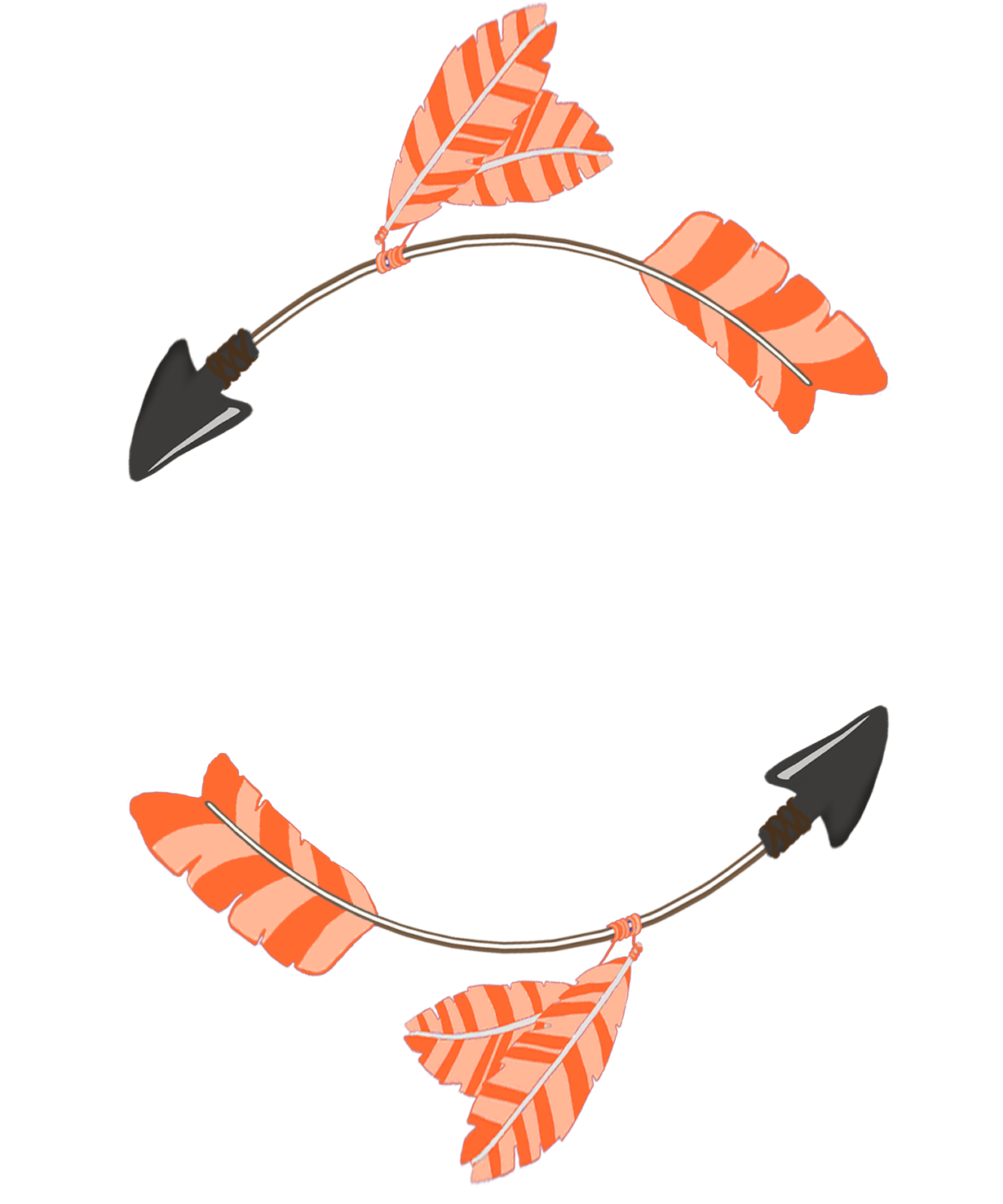 circle of orange tribal arrows