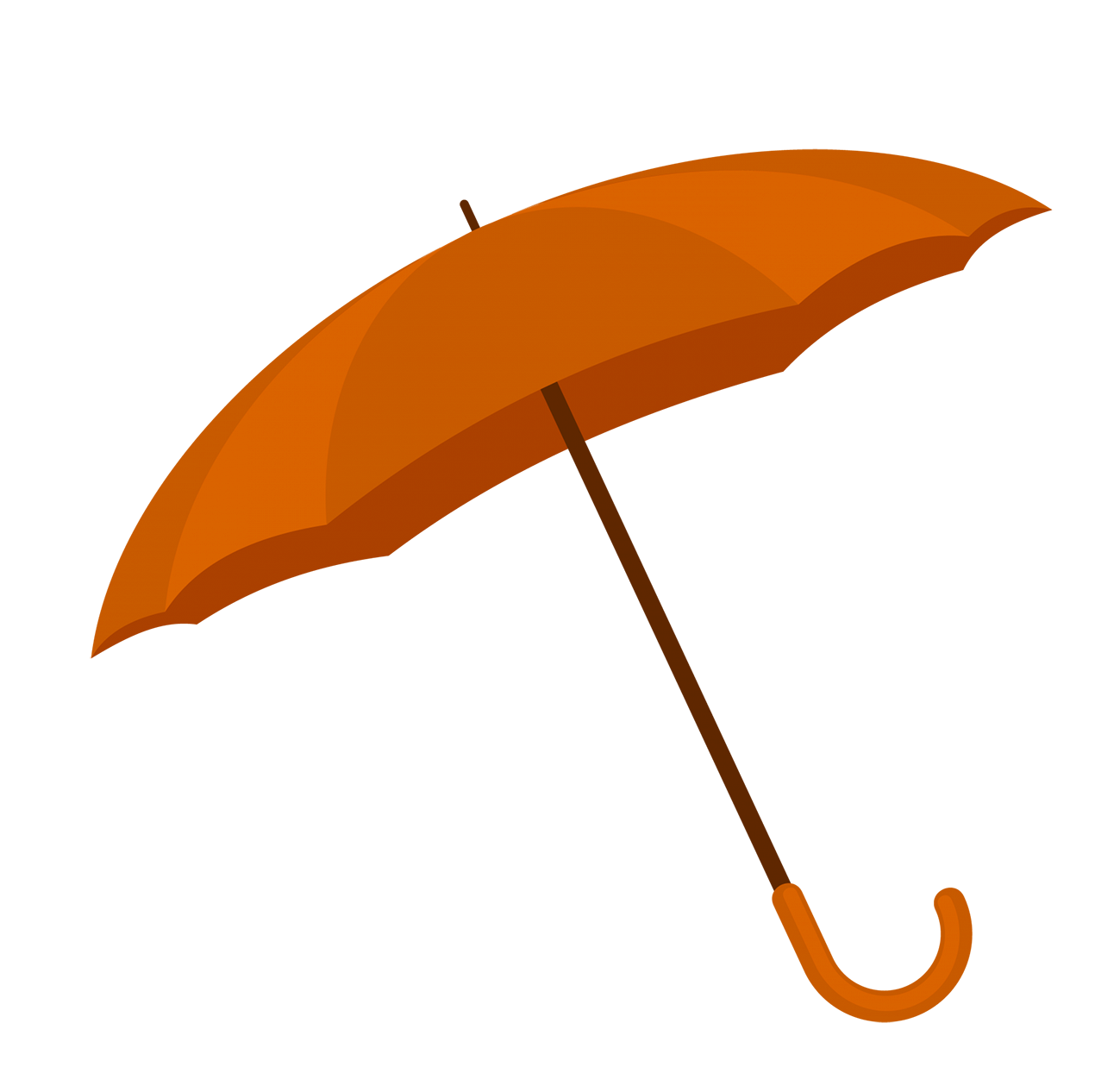 orange umbrella image