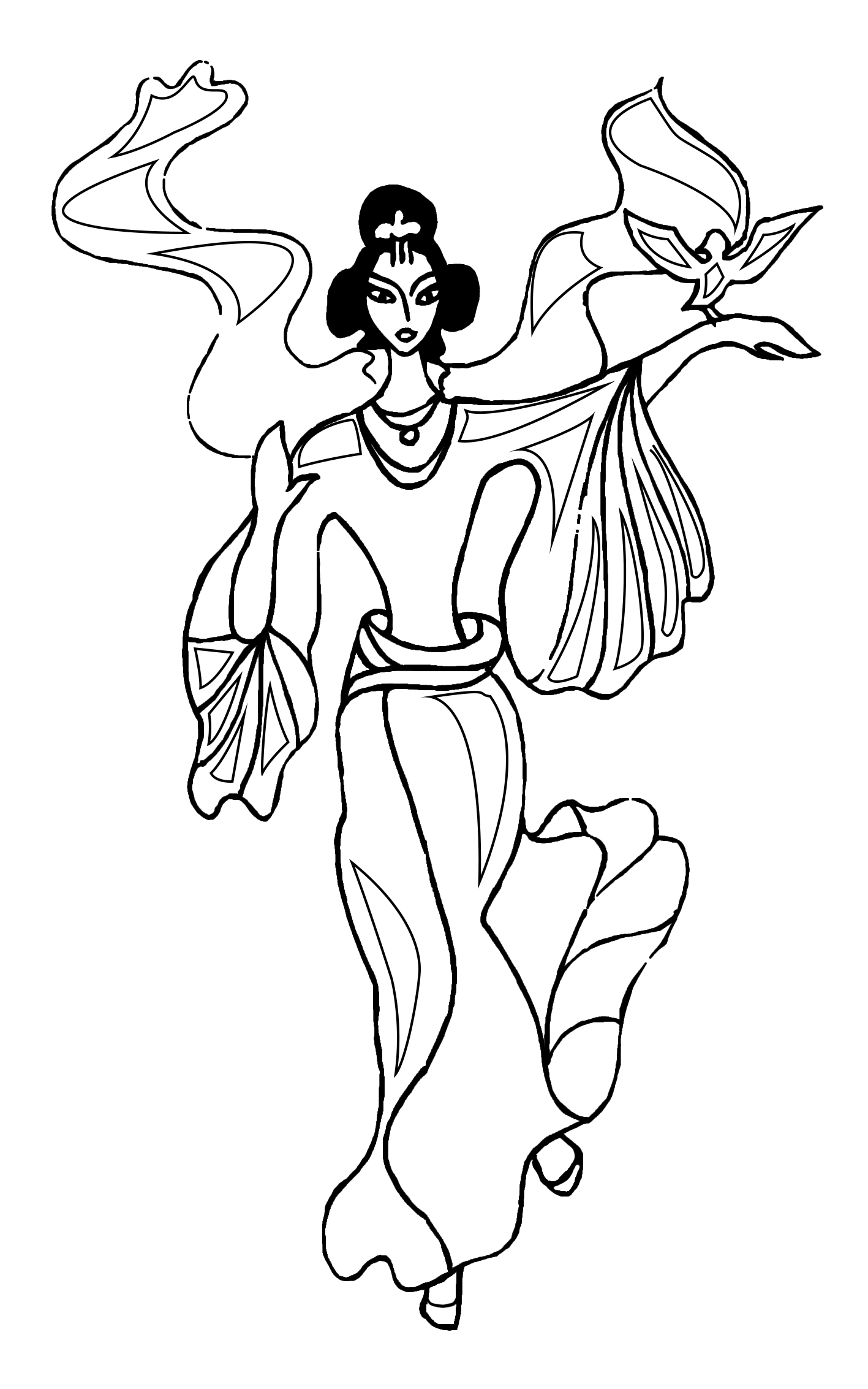 oriental dancer coloring sheet