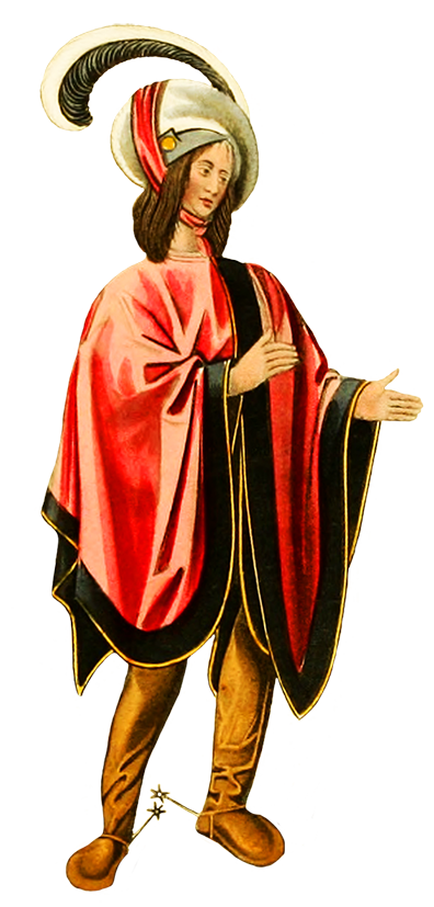 Man in medieval clothing clipart
