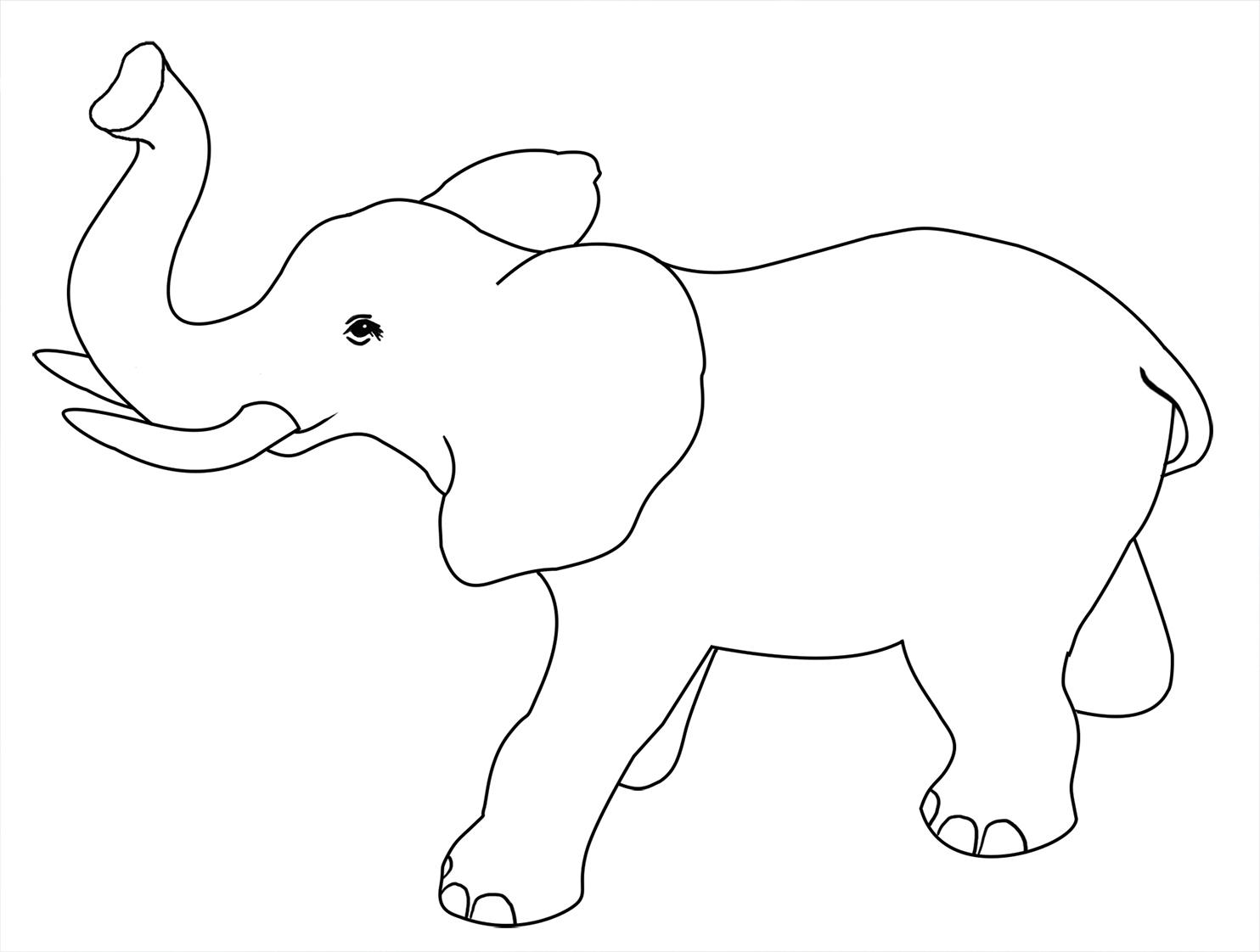 outline of elephant for coloring