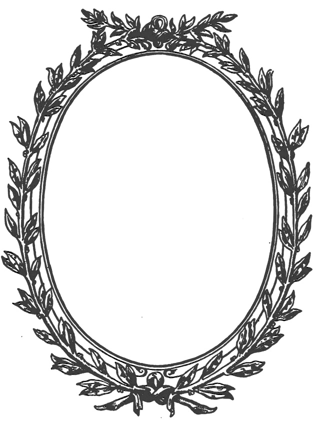 Astic Frame Victorian Era Oval 19th Century Style