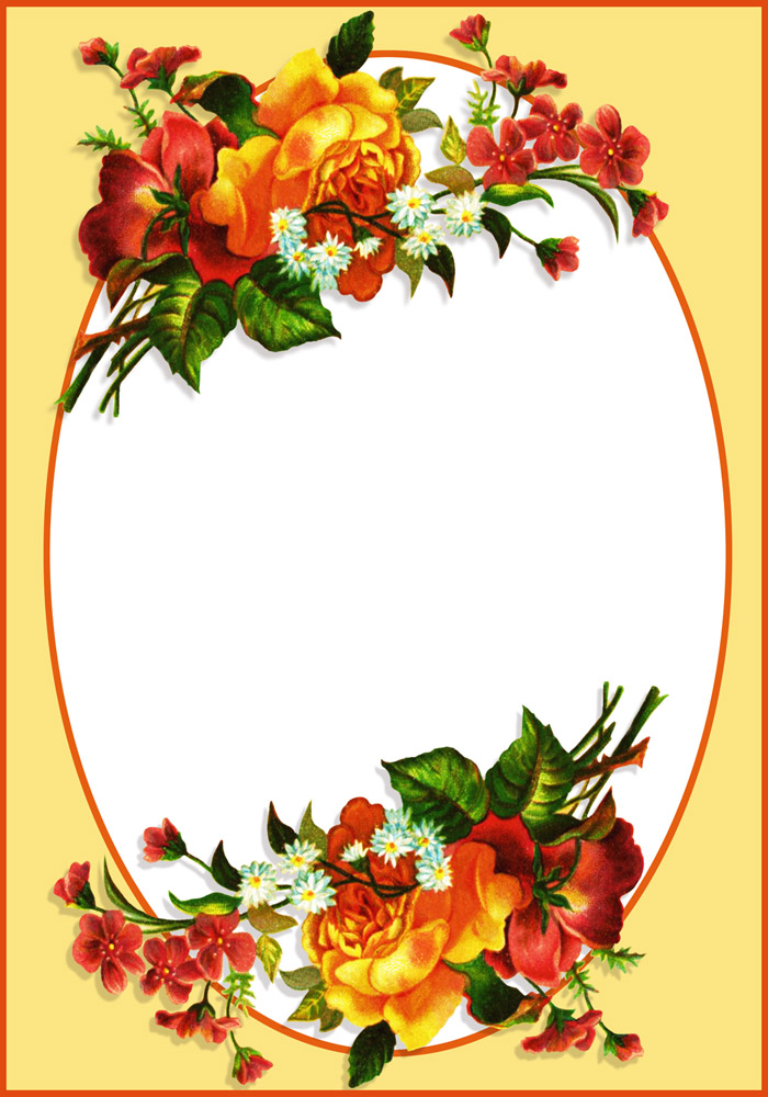 oval flower frame
