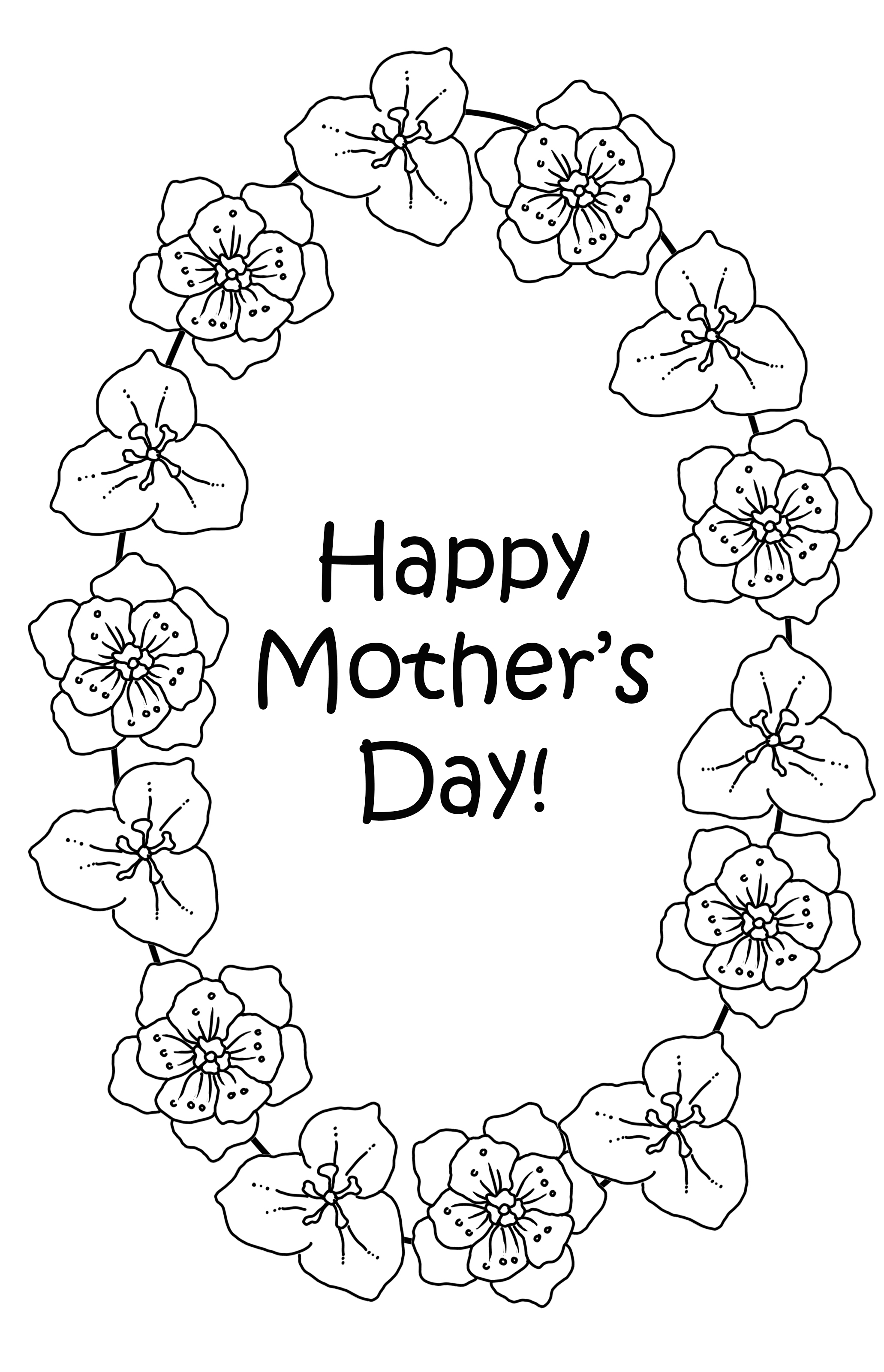 Flowers for Mother's day coloring page