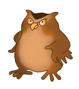 owl clipart angry owl