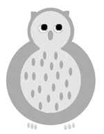 Owl clip art grey owl drawings