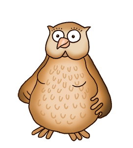 lady owl clipart