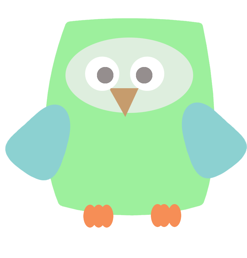 square green owl clip art