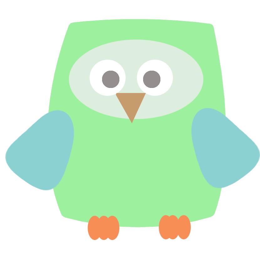 square green owl clip art