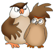 owl clip art big and small owl