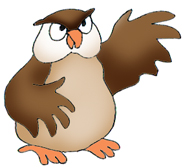 owl clip art angry owl pointing