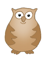 owl clip art small brown owl