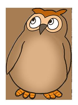 owl clipart shy little owl