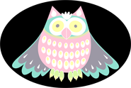 Owl clip art pastel colored owl