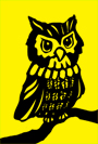 owl pictures yellow background drawing