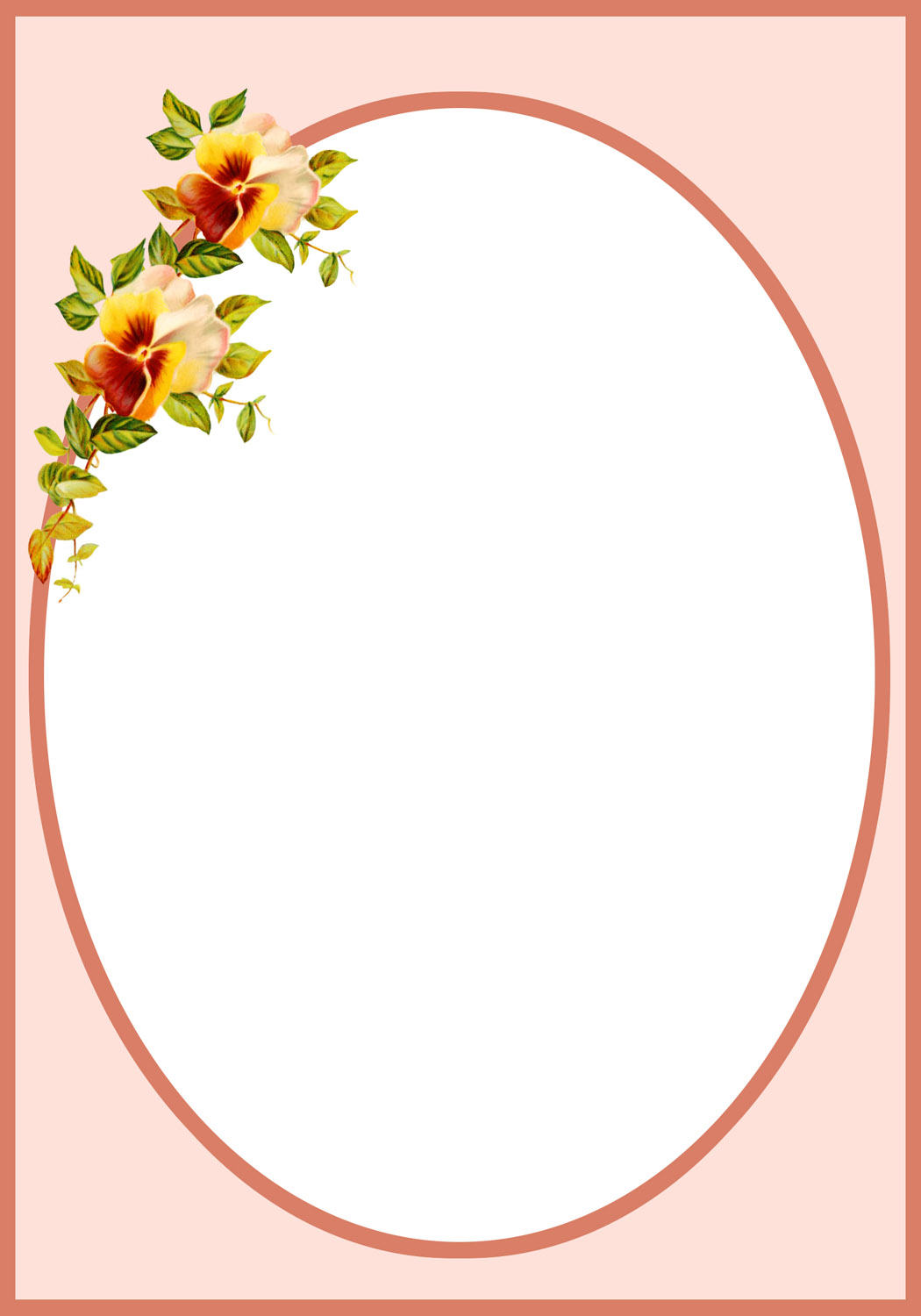 Flower borders and frames beautiful flower frame pansy frame viol flower frame free border templates with pansies izmirmasajfo