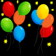 free party clipart balloons night